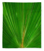 Palm Closeup Fleece Blanket