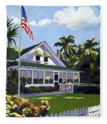 Palm Cottage Naples Florida Fleece Blanket
