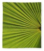 Palm Fron Abstract Fleece Blanket