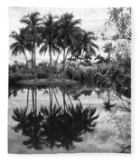 Palm Island  Fleece Blanket