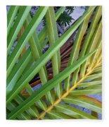 Palm Leaf Abstract Fleece Blanket