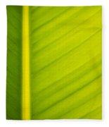 Palm Leaf Macro Abstract Fleece Blanket