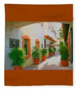Palm Springs Courtyard Fleece Blanket