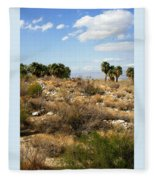 Palm Springs Indian Canyons View  Fleece Blanket