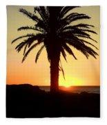 Palm Sunset Fleece Blanket
