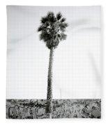 Palm Tree And Graffiti Fleece Blanket