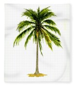 Palm Tree Number 2 Fleece Blanket