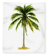 Palm Tree Number 2 Fleece Blanket