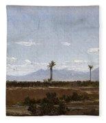 Palm Trees In Elche Fleece Blanket