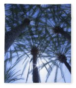 Palm Trees In The Sun Fleece Blanket