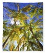 Palm Trees Of Aruba Fleece Blanket