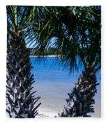 Palm Trees Of Gulf Breeze Fleece Blanket