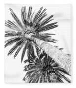 Palm Tree White Fleece Blanket