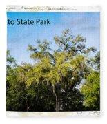 Palmetto State Park Fleece Blanket