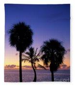 Palms At Sunrise Fleece Blanket