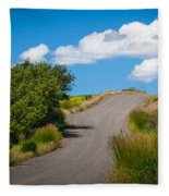 Palouse Country Road Fleece Blanket