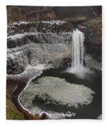 Palouse Falls In Winter Fleece Blanket