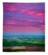 Palouse Fiery Dawn Fleece Blanket