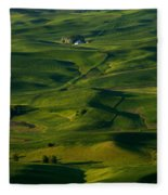 Palouse Green Fleece Blanket