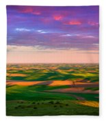Palouse Land And Sky Fleece Blanket