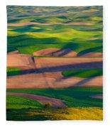 Palouse Ocean Of Wheat Fleece Blanket