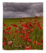 Palouse Poppies Fleece Blanket