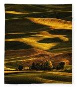 Palouse Sunset From Steptoe Butte Fleece Blanket