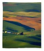 Palouse - Washington - Farms - 1 Fleece Blanket