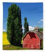 Palouse Weathered Barn Fleece Blanket