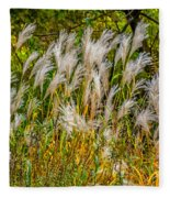 Pampas Grass Fleece Blanket