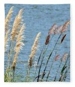 Pampas On The Lake Fleece Blanket