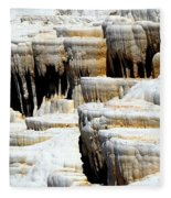 Pamukkale Terraces Fleece Blanket