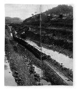 Panama Canal, 1908 Fleece Blanket