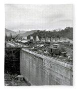 Panama Canal Construction 1910 Fleece Blanket