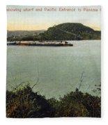 Panama Canal La Boca Fleece Blanket