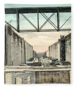 Panama Canal Locks Fleece Blanket