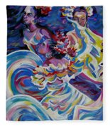 Panama Carnival. Folk Dancers Fleece Blanket