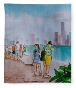Panama City Panama Fleece Blanket