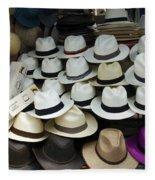 Panama Hats In Ecuador Fleece Blanket