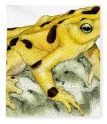 Panamanian Golden Frog Fleece Blanket