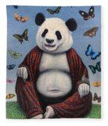 Panda Buddha Fleece Blanket