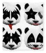 Panda Kiss  Fleece Blanket