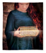 Pandora With The Box Fleece Blanket