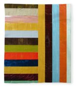 Panel Abstract L Fleece Blanket