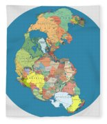 Pangaea Politica By Massimo Pietrobon Fleece Blanket