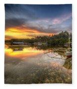 Panglao Port Sunset Fleece Blanket