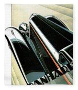 Panhard Car Advertisement Fleece Blanket