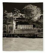 Panorama Alcatraz Up Close Fleece Blanket