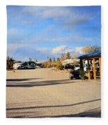 Panorama Cedar Cove Rv Park Street 3 Fleece Blanket