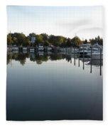 Panorama Harbor 02 Fleece Blanket